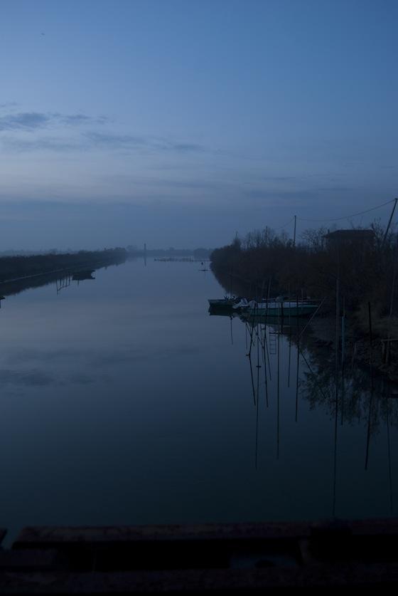 Marano - Canale al tramonto