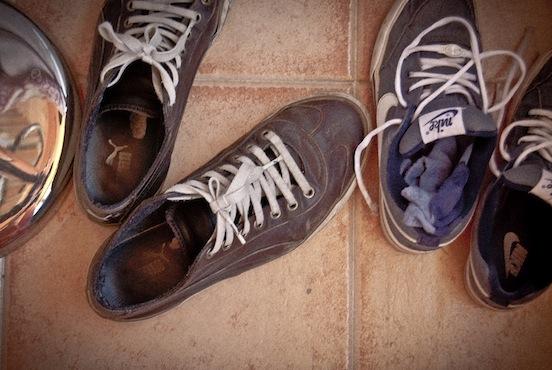 Scarpe in disordine