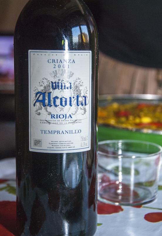 Crianza 2001, vina Alcorta, Rioja