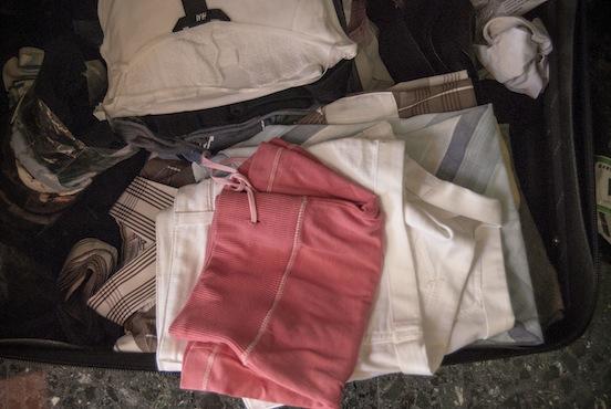 Vestiti in valigia