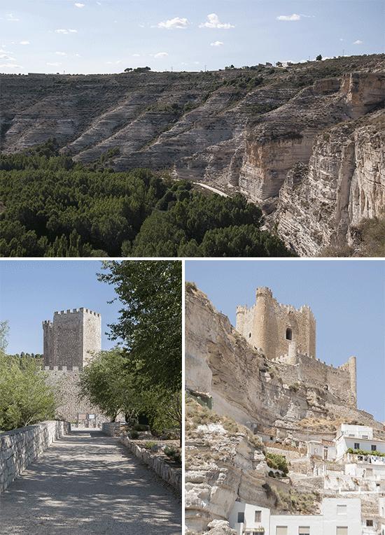 Castello e gola dall'alto - Alcala del Jucar