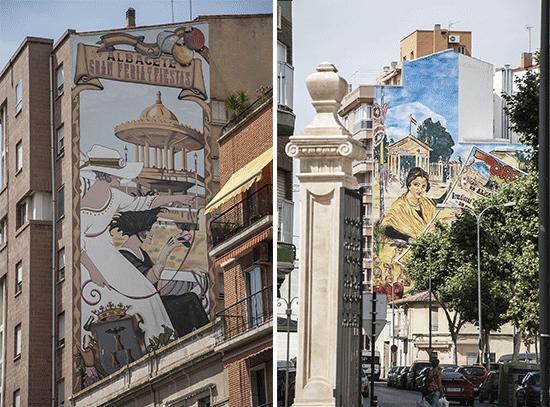 Murales nella zona della Feria di Albacete