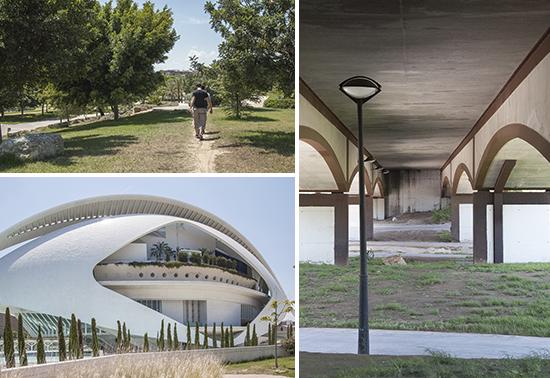 Scorci del parco e della città della scienza, Valencia