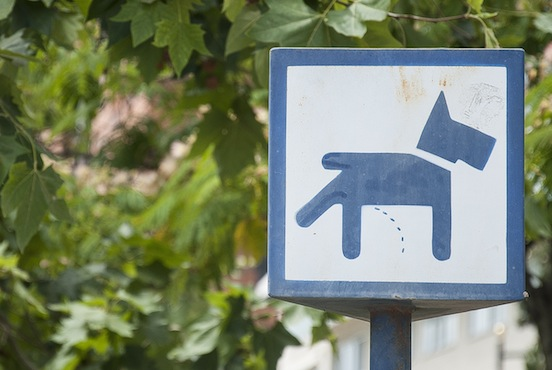 Cartello zona toilette, Valencia