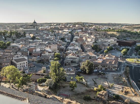 Veduta dall'alto di Toledo