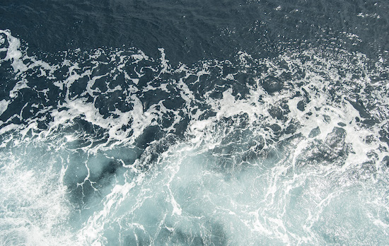 Il mare dal ferryboat. Verso Pag